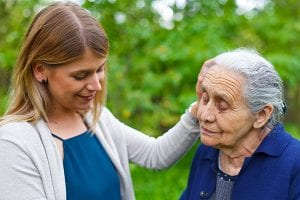 adult daughter with elderly mother considering weather it is time for in-home care